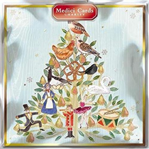 Weihnachtskarten Büro.Weihnachtskarten Med6465 12 Days Of Xmas Tree